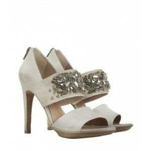 Allsaints Aurora dress Heels studed with crystals